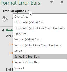 Excel's Format Error Bars task pane