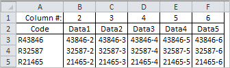 Testing sheet for INDEX-MATCH in one formula, sorted data