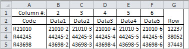 Testing sheet for INDEX-MATCH in two formulas, sorted data