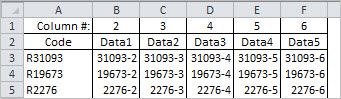 Testing sheet for VLOOKUP with sorted data