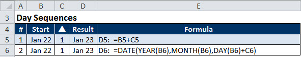 Excel date example 1