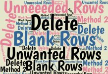 When you bring data from another source into an Excel worksheet, the data often includes rows that you'll want to delete. Here's the second of two methods.