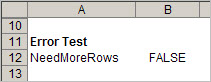 It's always a good idea to set up error tests in the Control sheet, where you can think of potential errors.