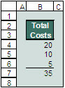 Example of using Excel's relative references for avoiding the Lotus error.