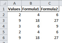 An example where we can use Excel Go To Special, differences