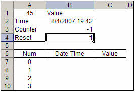 Enter 1 in the active cell B4 to reset the tracking list in this Excel workbook.
