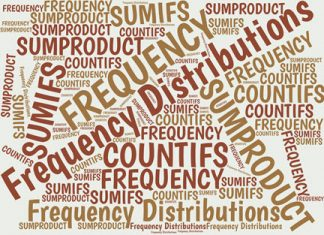 Although Excel's FREQUENCY function was designed to calculate frequency distributions, you also can use the SUM-IF, SUMPRODUCT, INDEX-FREQUENCY, and COUNTIFS functions. Here's a summary of the methods and your options.