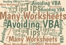 In a workbook with many sheets, you easily can select the sheet you want from a list of sheet names in your workbook. And you don't need VBA to do it.