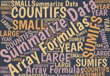 Excel offers several ways to summarize data quickly and easily. Here are the most powerful and flexible approaches, which include using Excel array formulas.