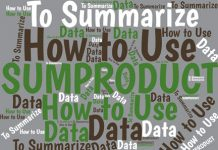 SUMPRODUCT is one of Excel's most-powerful function for summarizing data. It offers much of the power of array formulas, but without the complications.
