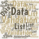 The 'List' Feature of the Data Validation command offers a quick and easy way to set up a dropdown list box that you can use for choosing items in a cell.