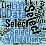 Here's how select a value from a list of values from a worksheet's a Validation List. You can use the list to display interactive data in reports.