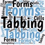 In Word, we can set up custom forms, and then tab through them to enter our data. Here's how to tab through forms in your cells in your worksheets.