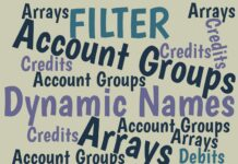 To use Account Groups in Excel formulas, you first must define the groups. Here's how to do it using either simple lists or Dynamic Arrays.