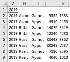 My first test of Excel's FILTER function