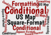 This Excel map relies on conditional formatting to highlight areas of interest.
