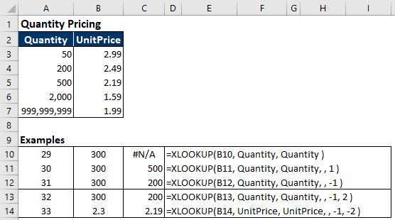 XLOOKUP examples 29-33.