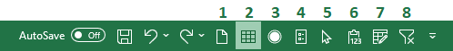The New File tool does the same thing that Excel's Ctrl + N shortcut command does.